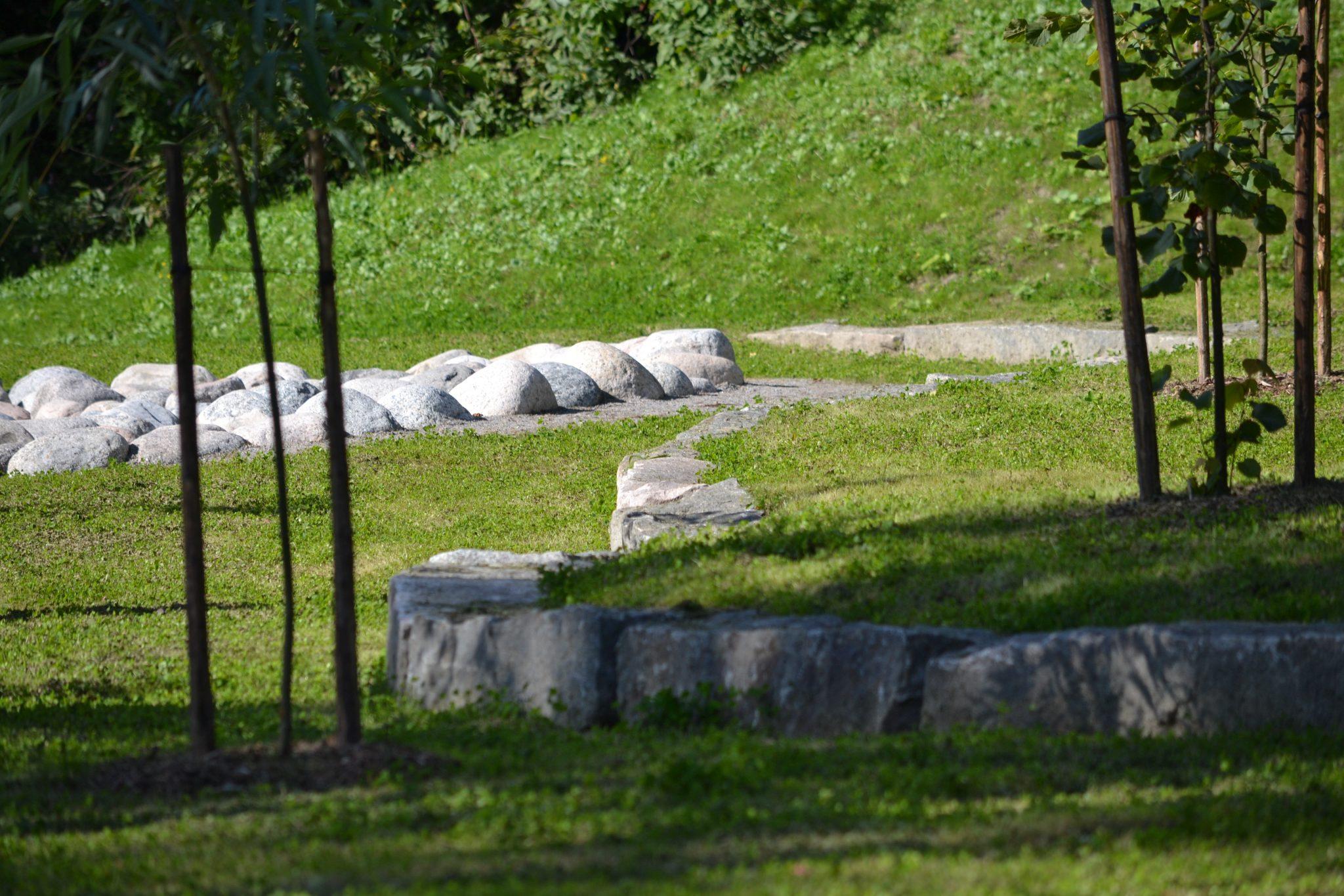 Tourujoen puisto, yksityiskohta
